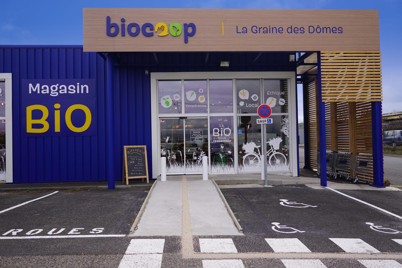 Aménagement espace de vente Biocoop - Lempdes (63)